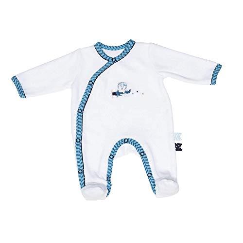 Pyjama bébé blanc ours 1 mois Lazare - Sauthon