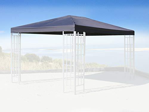 QUICK STAR Ersatzdach für Rank Pavillon 3x4m Anthrazit RAL 7012 Ersatzbezug Pavillondach