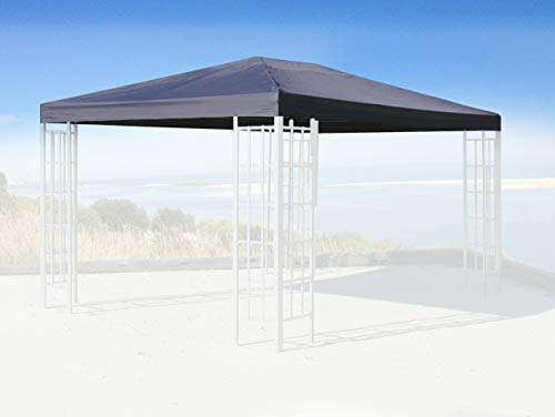 Quick-Star Replacement Roof for Rank Gazebo 3 x 4 m Anthracite Replacement Cover Gazebo Roof