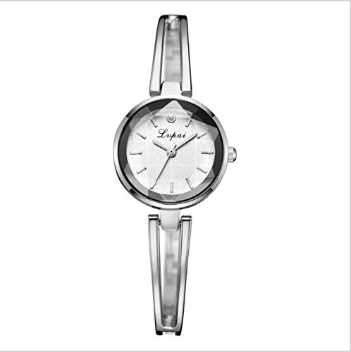 Tongjun Luxusuhr Set Frauen Armreif Armband Kleine Uhr Quarzuhr Damen Armbanduhr Kleid Rose Gold Uhr Relojes Neue Quartz Uhr (Color : 2)