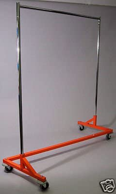 ExecuSystems CLOTHING Z-RACK Orange Base Bargain sale National products NEW Wheels w Non-Mark