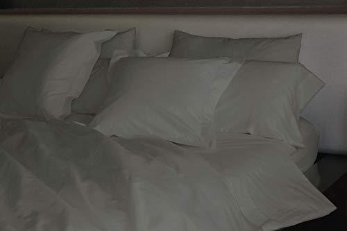 Montse Interiors, S.L. Funda nórdica Lisa algodón 100% Punto Jersey (Lisa Punto Antracita para Cama de 90x190/200 Nórdico de 150)