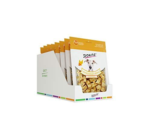 DOKAS Hühnerbrust-Würfel – Premium Snack mit Superfood für Hunde