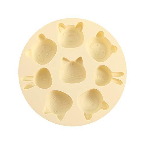 KITITEN Cartoon Silikon Backform Kuchen Haushalt Gedämpfte Kuchen Keks Backform Babyform,Yellow