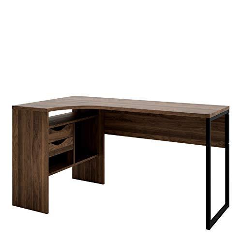 Furniture To Go | Function Plus Corner Desk 2 Drawers in Walnut