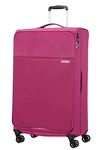American Tourister Lite Ray Luggage- Suitcase, Spinner XL (81 cm - 105 L), Magenta Haze