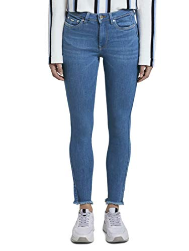 TOM TAILOR Denim Damen NELA Extra Hose, 10156-azur Blue Denim, 29