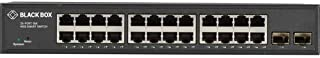 Black Box Gigabit Ethernet Managed Switch - (24) RJ-45, (2) SFP - 24 Ports - Manageable - TAA Compliant - 2 Layer Supported - Modular - Twisted Pair, Optical Fiber - 1U High - Desktop, Rack-mountable