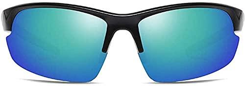 gafas de sol al aire libre Ciclismo Deportes Material plástico UV400 Gafas de sol Gris/Verde Lente Negro Marco Hombres s Polarizado Lija Gafas de sol-Verde
