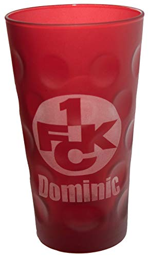 Beschdstoff 1. FC Kaiserslautern Dubbeglas mit Name graviert (rot)