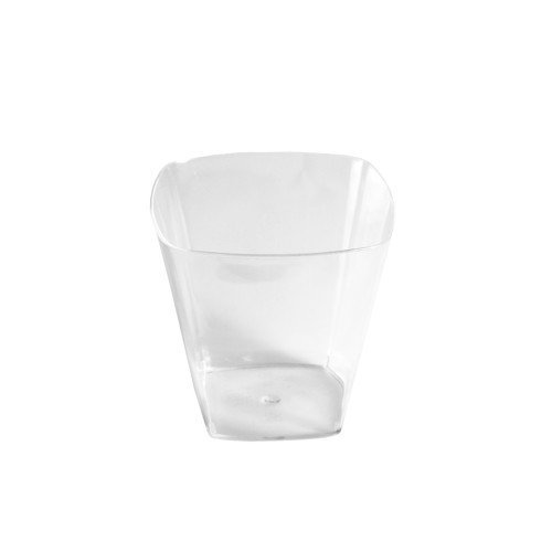 40 Fingerfood - Becher, PS eckig 200 ml 7 cm x 7,2 cm x 7,2 cm glasklar