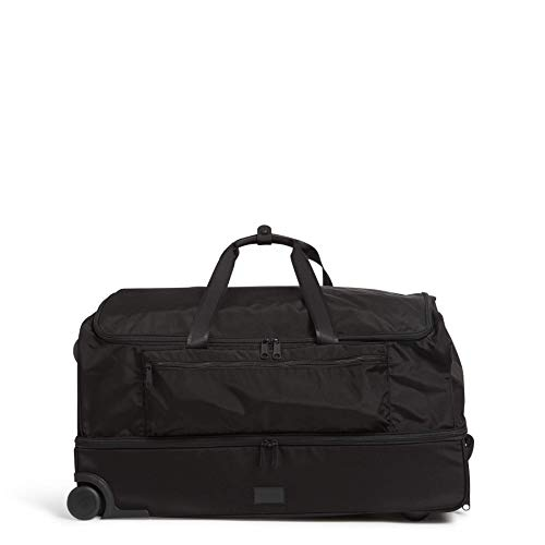 Vera Bradley Recycled Lighten Up Reactive XL Foldable Rolling Duffle Luggage, Black