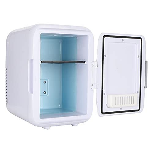 Mini Nevera, Refrigerador de Coche 4L, Refrigerador PortáTil MáS FríO y MáS CáLido Congelador con Una Puerta para Oficina Cuarto ProteccióN de la Piel Maquillaje Leche Alimentos DC 12V