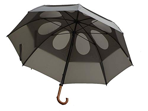 GustBuster 62' Canopy Doorman Umbrella, Suit Grey