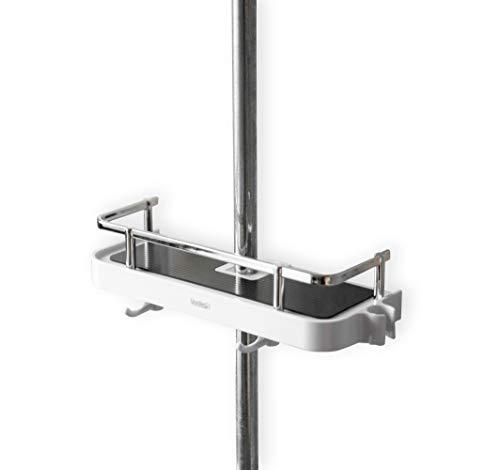 YunNasi Duschstangen Ablage Badezimmer Dusche Rack verstellbar Höhe kein Bohren Bad Aufbewahrung Halter, 25 mm