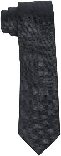 SELECTED HOMME Herren SLHNEW TEXTURE TIE 7CM NOOS B Krawatte, Schwarz (Black Black), One Size