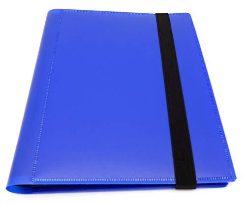 docsmagic.de Pro-Player 4-Pocket Album Dark Blue - 160 Card Binder - MTG - PKM - YGO - Álbum para Tarjetas Azul Oscuro