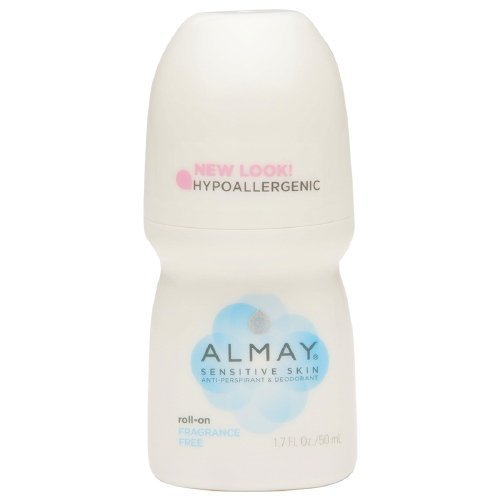 Almay Roll-On Antiperspirant & Deodorant, Fragrance Free 1.7 oz Pack of 3