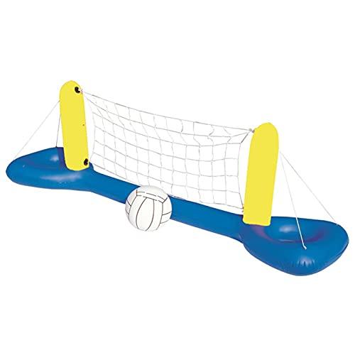 Liteness Juego de red de voleibol inflable con pelota para fiestas de verano, cumpleaños, vacaciones o vacaciones escolares, fuerza y durabilidad
