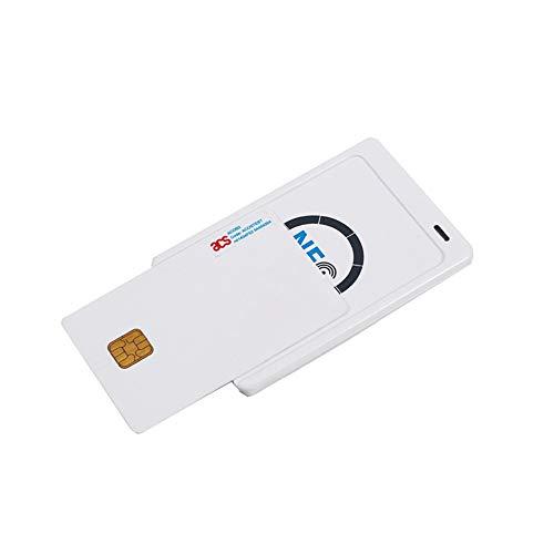 YUHUANG Chipkartenleser, 13,56 MHz USB kontaktlose NFC RFID-Kreditbank NFC-Karte SSK ACR122U Free - White