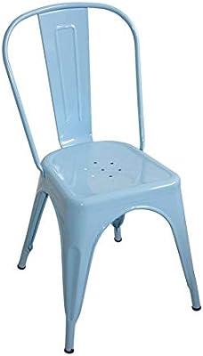 Silla lank industrial azul