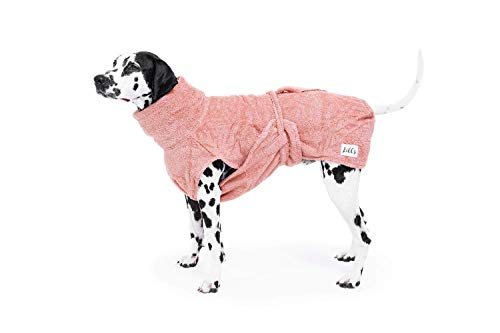 Lill's Hundebademantel, 100% Bio-Baumwolle, Organic Pinkberry (Rosa/Pink) (L)