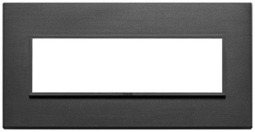 Vimar Serie Eikon Evo–Placca 7Moduli Alluminio Serie Eikon nero Total