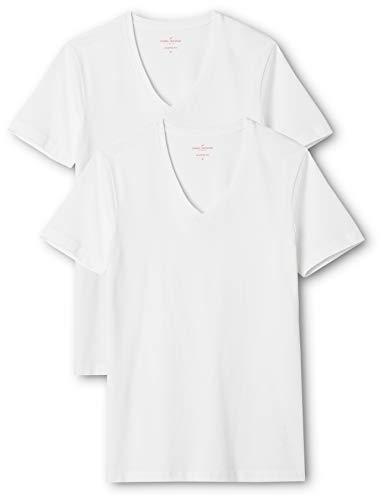 Daniel Hechter Herren Doppelpack T-Shirt, Weiß (weiß 01), Large (2er Pack)