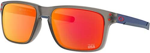 Oakley Men s OO9384 Holbrook Mix Rectangular Sunglasses Team USA Matte Grey Ink Prizm Ruby 57 product image