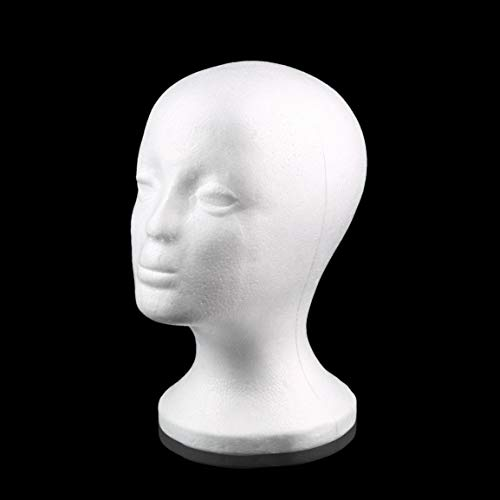 Blanc femme polystyrène mannequin mannequin tête modèle mousse éponge perruque cheveux lunettes affichage lunettes bouchon présentoir