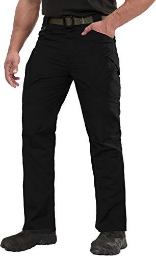 CASIVENT spodnie taktyczne męskie stretch talia spodnie turystyczne szybkoschnące spodnie męskie spodnie robocze spodnie do biegania spodnie szefa kuchni spodnie męskie spodnie cargo czarne XL