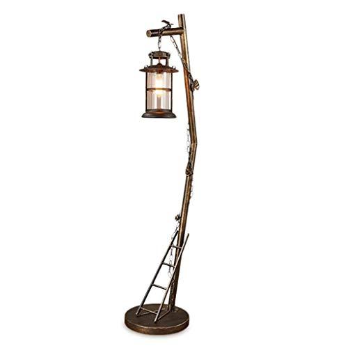 CLJ-LJ Lámpara de pie de hierro retro, lámpara de pie con cubierta de pie, lámpara antigua, apta para salón, dormitorio – Foot Switch