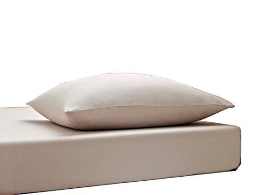 Blanc des Vosges Uni Jersey Drap housse extensible 2 tetes Coton chanvre de 140x190 cm à 180x220 cm