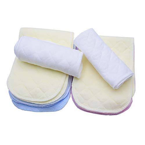 12pcs Pañales del Algodón del Bebé,Pañales De Tela De Algodón Lavable Pañales Reutilizables De Alta Absorbencia Suave y Seguro Inserta Revestimientos En Todas Las Pieles Recién