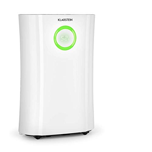KLARSTEIN DryFy PRO Connect - Deumidificatore a Compressione, Purificatore d'Aria Integrato con Filtro, Ionizzatore e Funzione UV, Interfaccia WiFi, Potenza 370 W, Bianco