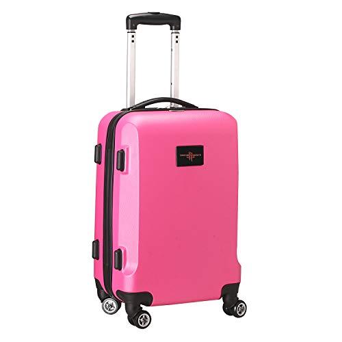 Denco NBA Houston Rockets Carry-On Hardcase Luggage Spinner, Pink