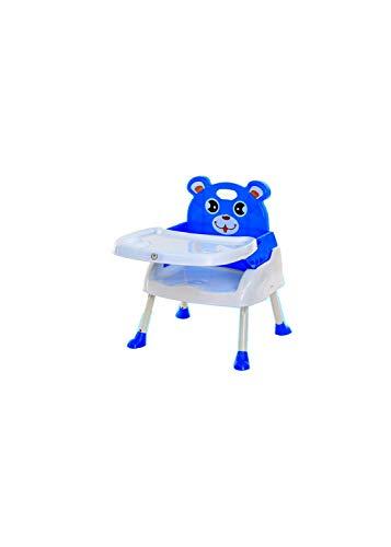 多機能ベビーハイ&ローチェア 子供ポータブルテーブル お食事椅子 6ヶ月から6才まで お食事 おやつ 離乳食 組立簡単 (ブルー)