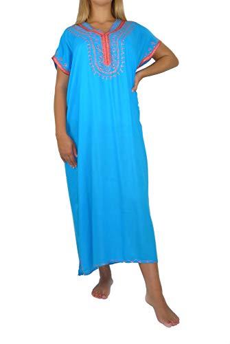 Marrakech Accessoires Orientalisches Kleid Kaftan Tunikakleid Strandkleid Sommerkleid Maxi - 905762-0012, Grösse:M