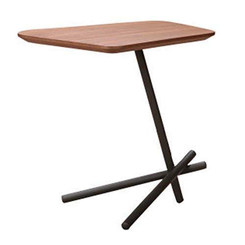 T-Z Familienhilfsmittel Trapezförmiger Massivholz-Beistelltisch Eisentisch Heimküchentisch Couchtisch Esstisch Log Computer Tisch Plattformhalterung