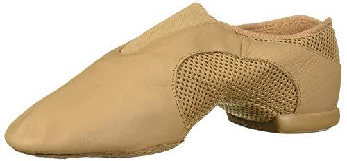 Bloch Women's Flow Slip On Jazz Shoe, Tan, 5