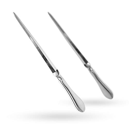 Familion Silvery Letter Opener, Envelope Opener Knife Metal Letter Opening Knife, Paul Revere Paper Cutting Knife, 9 inches (2 Pack)