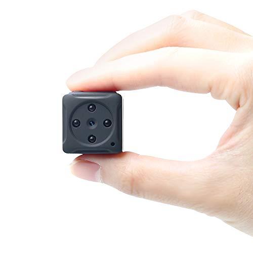 Mini Cámara Espía UYIKOO 8GB 1080P Portátil Pequeña Cámara Oculta Video Niñera CAM con Detección de Movimiento y Visión Nocturna para la Cámara de Vigilancia de Seguridad para el Hogar
