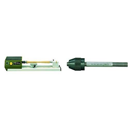 Proxxon 27020 Micro Drechselbank DB 250 + PROXXON 27028 Bohrfutter mit Pinole für den Reitstock der Drechselbank DB 250