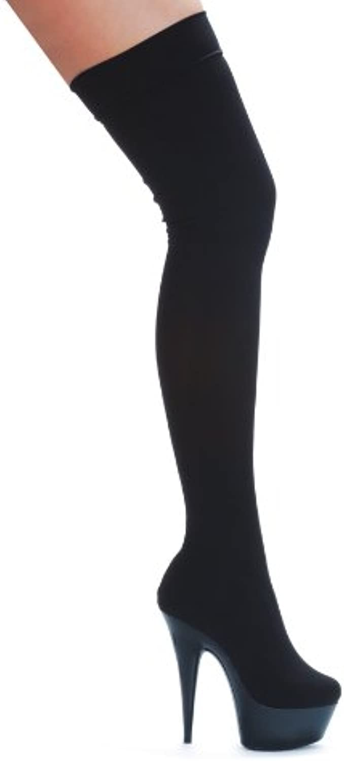 Ellie 609-SKI 6  Pointed Stiletto Stretch Lycra Thigh High Boot