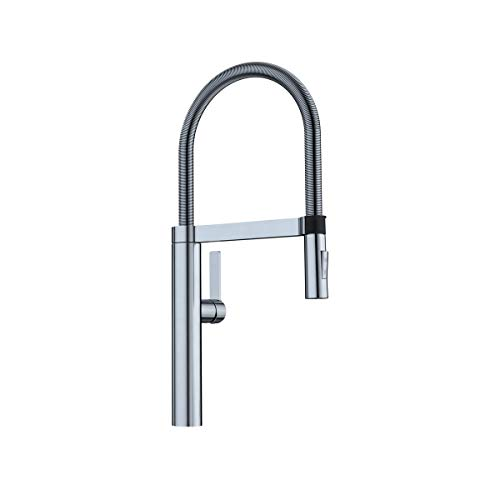 BLANCO, Satin Nickel 441332 CULINA Semi-Pro Kitchen Faucet with Magnetic Handspray, 2.2 GPM