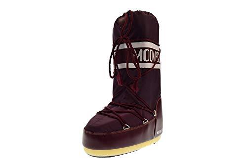 Moon Boot Nylon, Stivali da Neve Unisex Adulto, Rosso (Borgogna), 35/38 EU