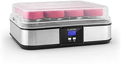 Klarstein Gaia yaourtière électrique 12 pots (préparation de yaourts maison, fromage frais, couvercle hermétique, jusqu'à ...