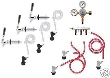 3 Tap Chrome Wall Mount Home Brew Beer Kegerator Kit (Low Flat Rate Shipping)