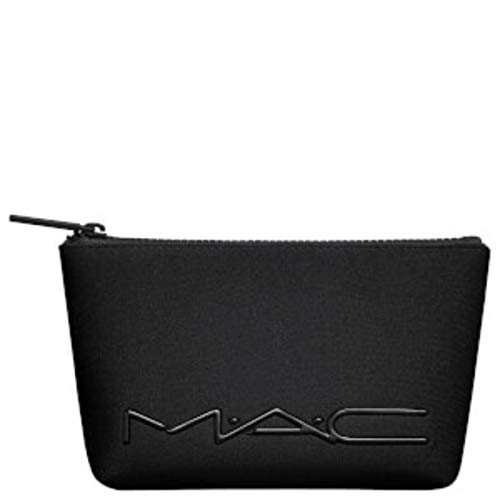 MAC Black Makeup Bag - Neoprene Logo Bag with Zipper
