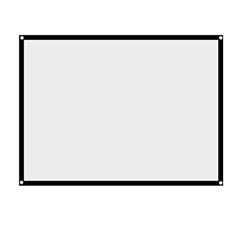 Rolloleinwand Beamer Leinwand,Portable Projectie Leinwand 60-100 inch Opvouwbaar beamerleinwand,Projectiescherm Leinwand 4: 3 Heimkino Projectievlak voor outdoor camping-film 72 Zoll
